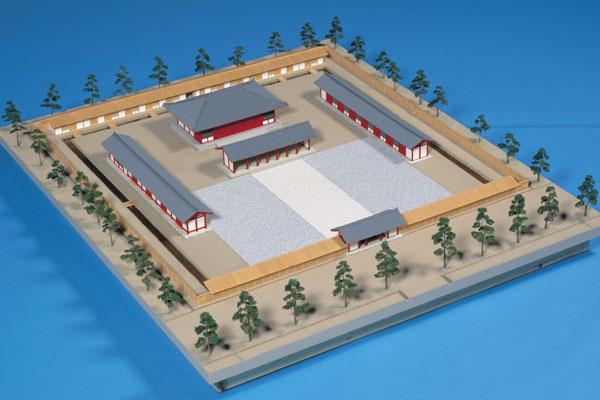 下野国庁跡復元模型